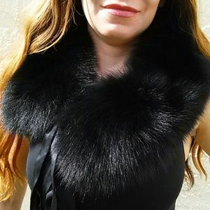 Black Fox collar or headband